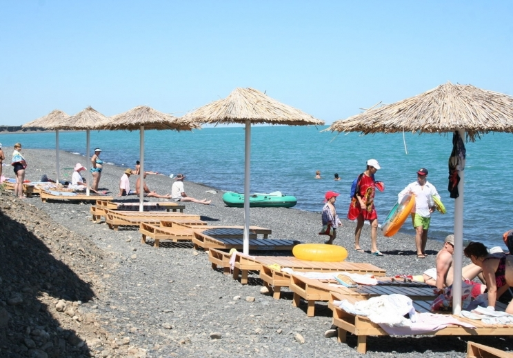 Пляж озера Алаколь